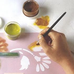 Cómo limpiar stencils con pintura pegada?
