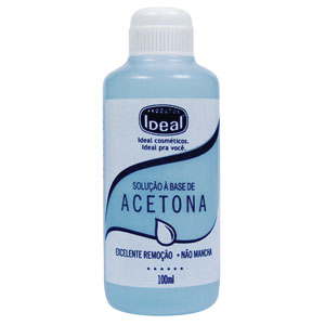 Cómo limpia la Acetona?