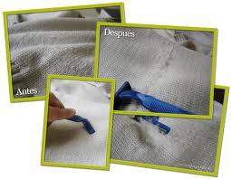 Cómo limpiar las pelotitas de la ropa?
