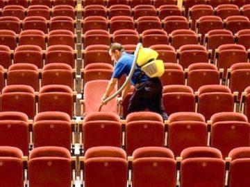 limpieza sala de cine
