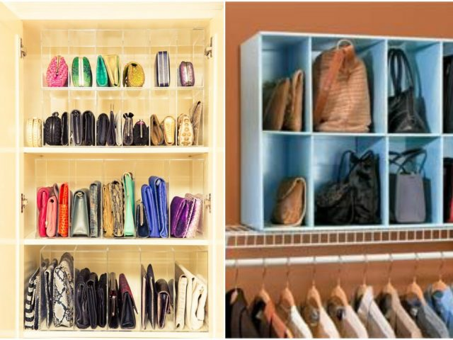 C mo organizar carteras y bolsos - Guardar bolsos en armario ...